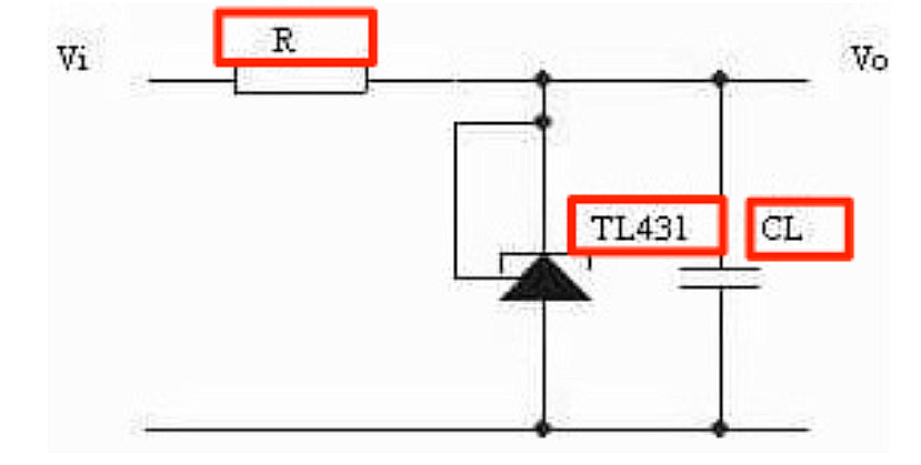 Circuit diagram of Precision reference voltage source