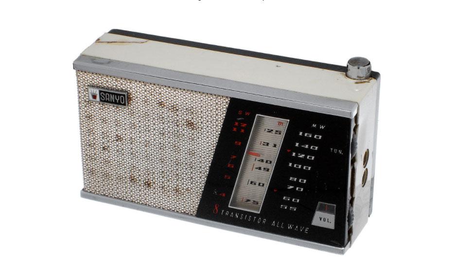 Transistor radio, receiving AM and short wave band