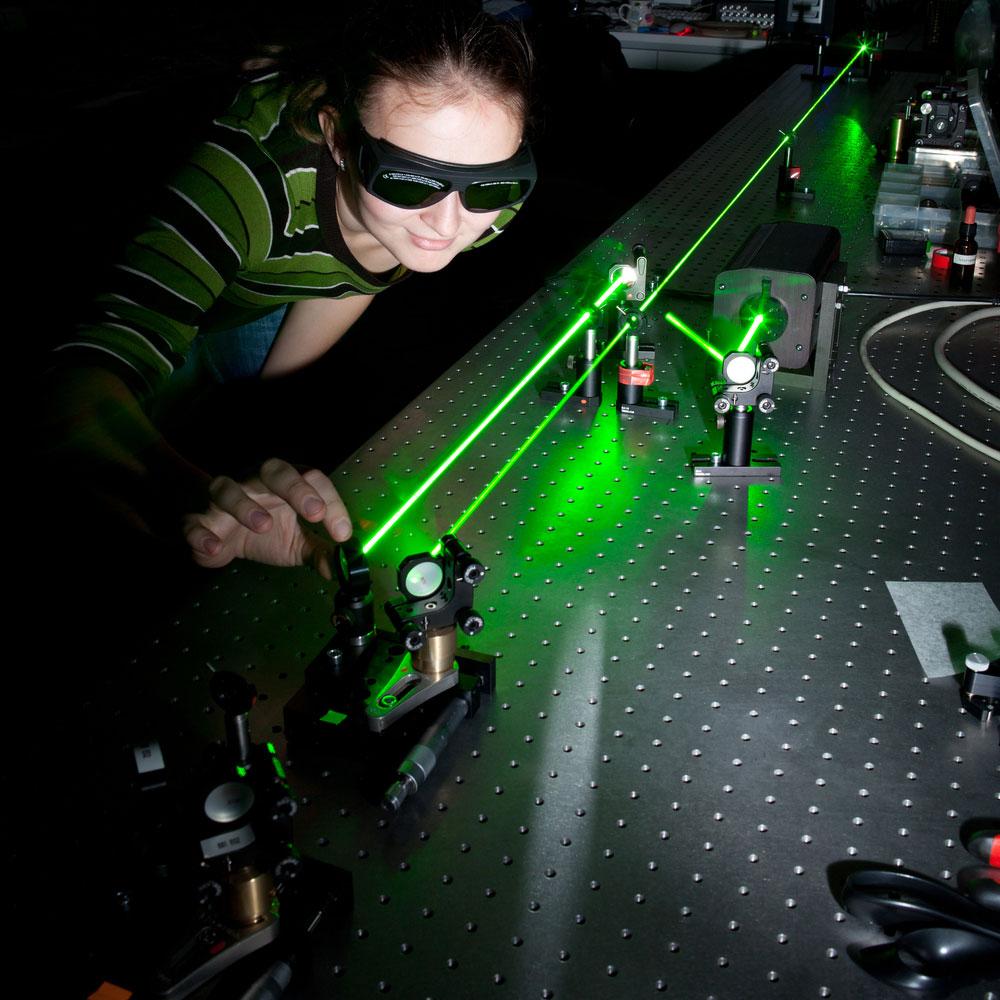 Two Monochromatic Laser Beams