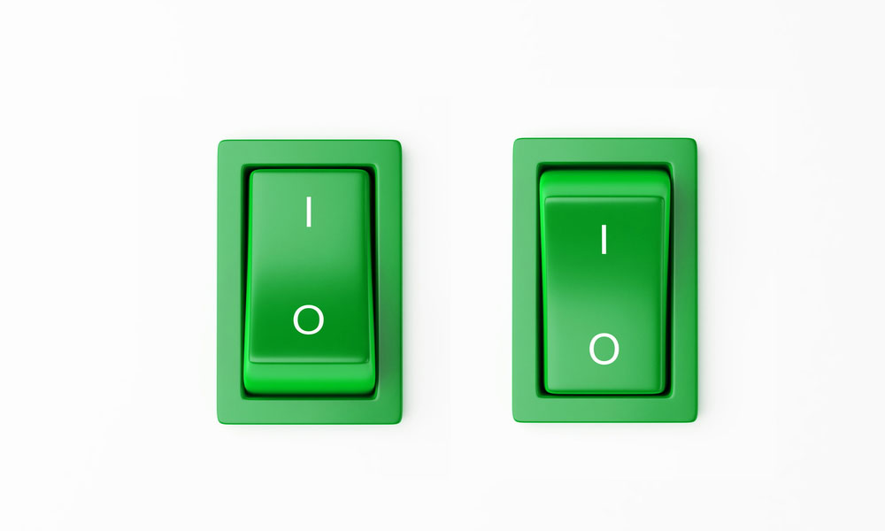 power switch button