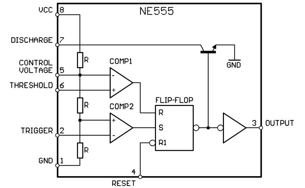 555 delay IC circuit