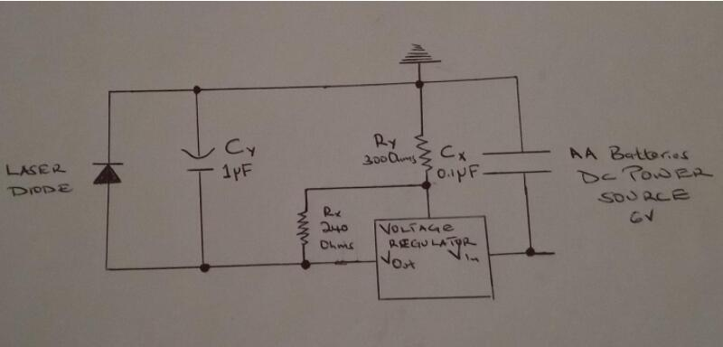 An illustration of a Laser Diode Driver Circuit