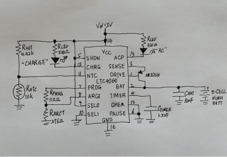 A basic NiMH circuit diagram