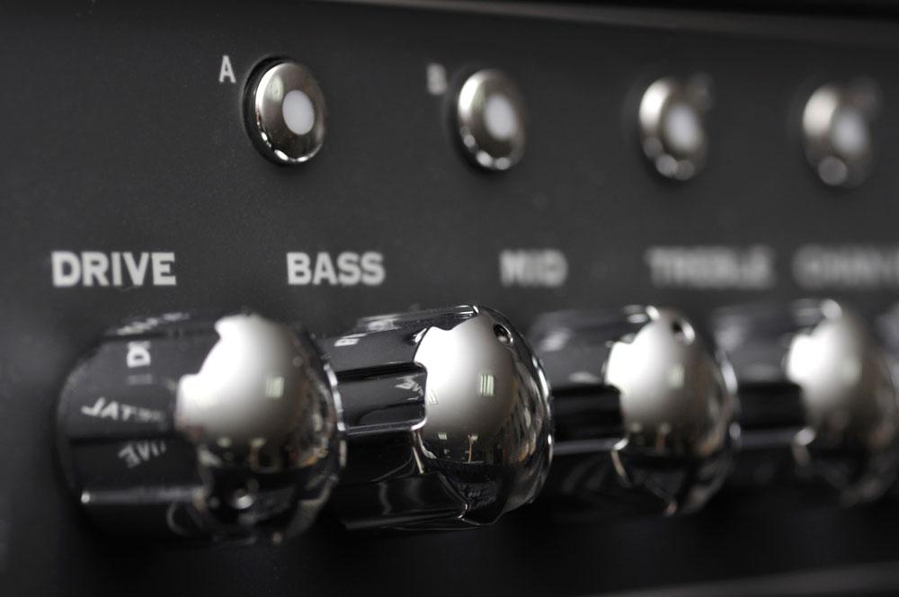 Music amplifier control panel